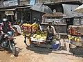 Mobile fruits vendor in Bhaktapur (5706457125).jpg