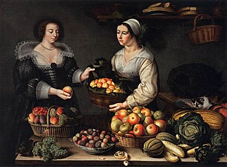 Women artists - Louise Moillon, The Fruit Seller, 1631, Louvre