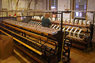 Montgomery Worsted Mills - Spinning room still in use at the mill