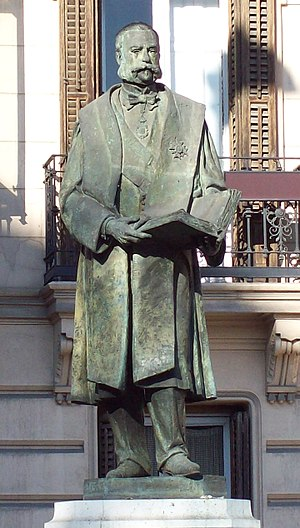 Manuel Alonso Martínez - Monument to Alonso in Madrid (J.L. Parés, 1994).