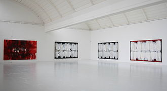 Ian McKeever (artist) - McKeever at the Morat Institute, Freiburg i.Br., 2007