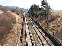 Moravské Knínice, železniční trať Brno - Havlíčkův Brod (02).jpg