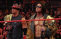 The Miz & John Morrison als World Tag Team Champions (2008).