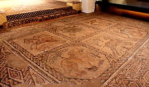 Roman villa - Floor mosaics: Camino de Albalate, Calanda, Spain