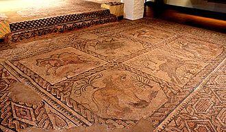 Roman villa - Floor mosaics: Roman villa of Camino de Albalate, Calanda, Spain.
