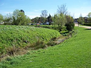 Ruislip-Northwood Urban District - The remains of an ancient motte-and-bailey castle in Manor Farm