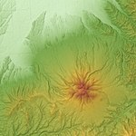 Mount Sharidake Relief Map, SRTM-1.jpg
