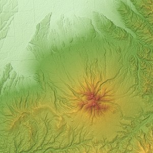 Mount Shari - Relief Map