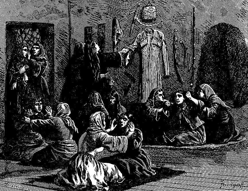 Mourning Mingrelians (Pranishnikoff, 1884).jpg