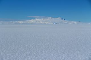 Mount Berlin volcano in Antarctica