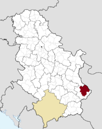 Location o the municipality o Pirot within Serbie