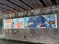 Mural on the bridge over Regent's Canal, Royal College Street, NW1 - geograph.org.uk - 1450825.jpg