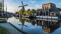 """Museumhaven Turfsingel - Gouda met o.a. molen """"de Roode Leeuw"""" - Rijksmonument (22656319801).jpg"""