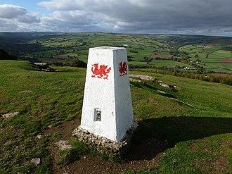 Brecon Beacons National Park - Image: Mynydd Illtud Powys Twyn y Gaer Hen Sne 02 trig point