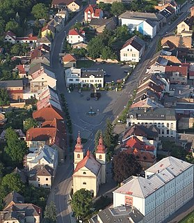 Vamberk Town in Czech Republic