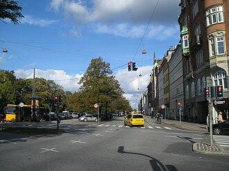 Nørre Voldgade - Nørre Voldgade seen from Jarmers Plads.