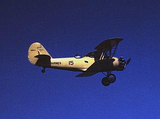 Naval Aircraft Factory N3N - US Marine Corps N3N-3 over Parris Island, 1942