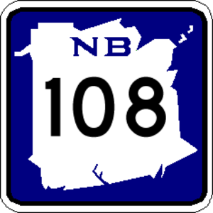 Numbered highways in Canada - Image: NB 108