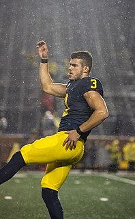 Quinn Nordin American football placekicker