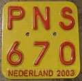NETHERLANDS 2003 -MOPED-SCOOTER PLATE - Flickr - woody1778a.jpg