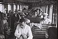 NEW IMMIGRANTS FROM YEMEN ON THE TRAIN BRINGING THEM TO THE ATLIT RECEPTION CAMP. עולים חדשים מתימן ברכבת בדרכם למחנה העולים בעתלית.D822-010.jpg