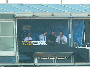 Fox NFL - The NFL on Fox booth at Candlestick Park during a game on November 16, 2008. Matt Vasgersian and J.C. Pearson are calling the game.