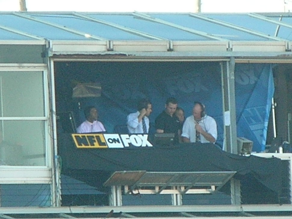 NFL on Fox booth at Candlestick Park 11-16-08