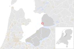 Locatie van de gemeente Urk (gemeentegrenzen CBS 2016)