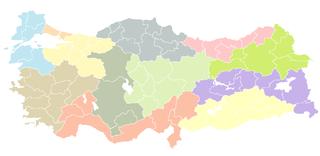 NUTS statistical regions of Turkey