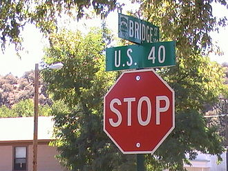 "Nevada State Route 425 - As of August 2008, some street signs along SR 425 still say ""U.S. 40"". US 40 was removed from Verdi in 1966."