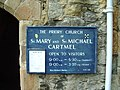 Name board for Cartmel Priory - geograph.org.uk - 446970.jpg
