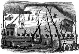 Nashoba Community - Sketch of Nashoba, from Domestic Manners of the Americans, 1832