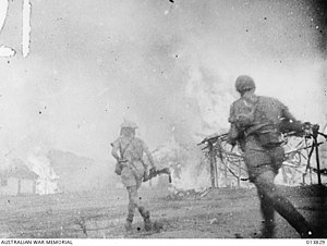Battle of Timor - The East Timorese village of Mindelo (Turiscai) is burnt to the ground by Australian guerillas to prevent its use as a Japanese base, 12 December 1942