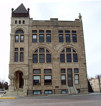 Ness City, Kansas - Ness County Bank building (2013)