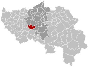 Neupré - Image: Neupré Liège Belgium Map