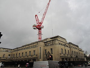 Weston Library - The New Bodleian Library in November 2011 while closed during major refurbishment to create the Weston Library