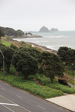 New Plymouth Coastal Walkway - A section of the Coastal Walkway in front of Puke Ariki.