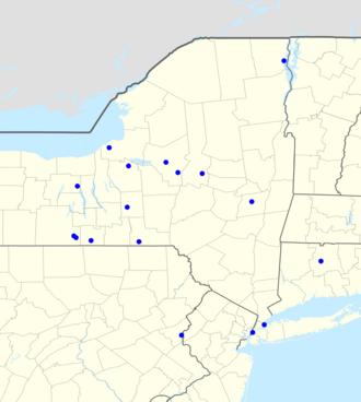 New York Giants Radio Network - Map of radio affiliates.
