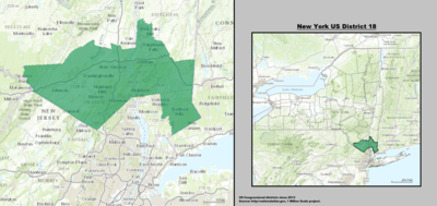 New York 's 18th congressional district - since January 3, 2013.