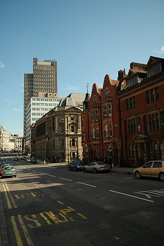 Newhall Street - The view along Newhall Street towards Colmore Row and Bennetts Hill.