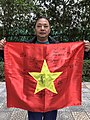 Newone - lá cờ chữ ký U23 Việt Nam của lớp tiếng Anh thầy Lâm.jpg