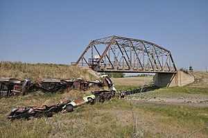 National Register of Historic Places listings in Niobrara County, Wyoming - Image: Niobrara County WY DSD Bridge