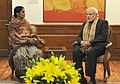 Nirbhaya's mother with Prime Minister Narendra Modi.jpg