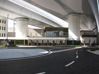 railway station in Nagaokakyo, Kyoto prefecture, Japan