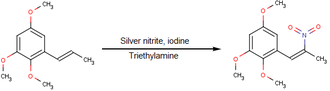 Nitroalkene - Image: Nitrogenation of a phenylisopropene