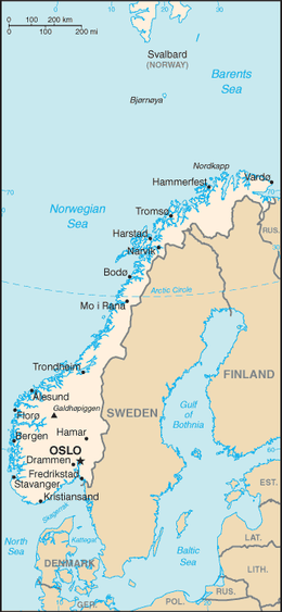 Geography Of Norway Wikipedia - Norway map free