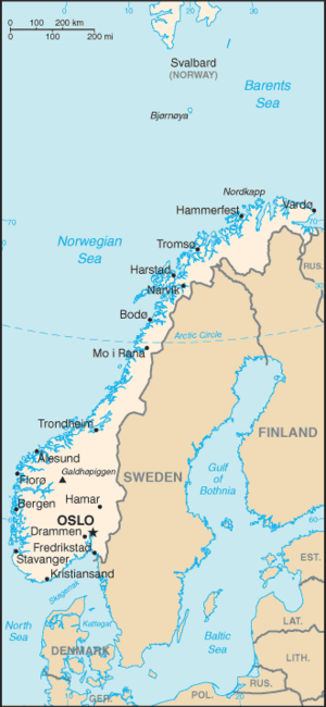 Plan R 4 - Map of Norway