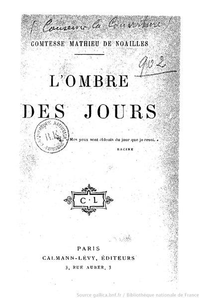File:Noailles - L'Ombre des jours, 1902.djvu