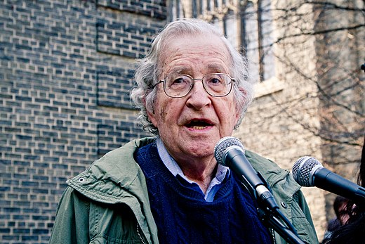 Chomsky speaking in support of the Occupy movement in 2011 Noam Chomsky Toronto 2011.jpg