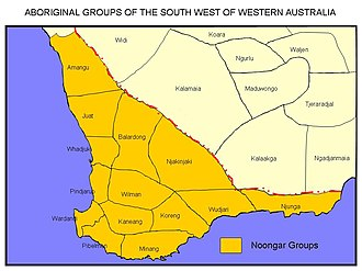 Noongar - Noongar groups